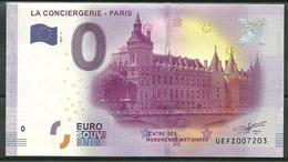 Billet Touristique 0 Euro 2017-1  La Conciergerie Paris - Essais Privés / Non-officiels