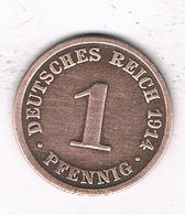 1 PFENNIG 1914 A  DUITSLAND /1671/ - [ 2] 1871-1918: Deutsches Kaiserreich