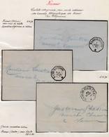Cchet Telegraphe Avec Cercle Interieur Dont  Croix De Malte ; Namur Les 4.4.79 & 6 .11.79 Et Avec ETOILE Le 28.2.8 ( Car - Télégraphes