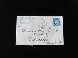 LETTRE DE LONDINIERES POUR MARSEILLE  -  1875  - - Storia Postale