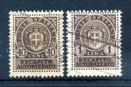 1945 LUOGOTENENZA Recapito Autorizzato 6/7 USATI - Recapito Autorizzato