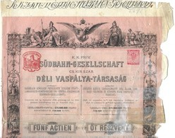 Chemins De Fer Du Sud De L'Autriche - Südbahn-gesellschaft , 1883 - Chemin De Fer & Tramway