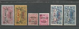WALLIS Scott 33-35, 37-39 Yvert 30-32, 34-36 (6) * Cote 6,50$ 1924-27 - Wallis-Et-Futuna