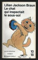 """Lilian Jackson BRAUN """"Le Chat Qui Inspectait Le Sous-sol""""  10/18 Grands Détectives 1994. Illustration Louis Wain. - 10/18 - Grands Détectives"""
