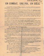 AVEYRON CAPDENAC HISTOIRE POLITIQUE SYNDICALISME PARTI COMMUNISTE FRANCAIS FFI TRACT PROPAGANDE COMBAT IDEAL TOULOUSE - Historical Documents