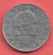 50 Lire , ITALIE , Acier Inoxidable , 1960 , N° KM # 95 - 1946-… : République