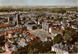Cpsm 59 FRESNES-sur-ESCAUT  La Place Vaillant-Couturier Vue D'avion ,colorisée , Dos Vierge - Frankreich