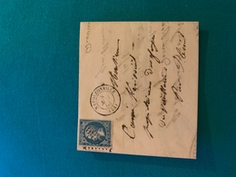 Lettre Avec Timbre Oblitéré , De 20c , Cachet Du 8 Mai 1869 , De Napoleonville (54) - 1863-1870 Napoléon III Lauré