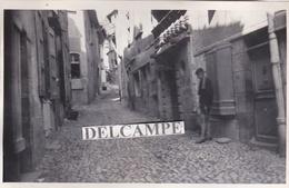 MUR DE BARREZ Années 1930 - Photo Originale D'une Rue ( Aveyron ) - Lieux