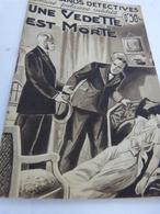 Une Vedette Est Morte , Marcelle-renée Noll, Romans Policiers Inédits(cai01) - Livres, BD, Revues