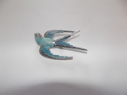 Belle Broche Hirondelle Bleue (5,8 X 4 Cm) - Broches