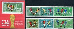 Bulgaria, World Cup 1974, 6 Stamps +s/s Block - 1974 – Allemagne Fédérale