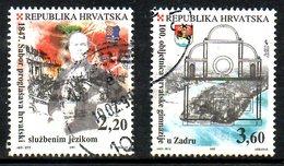 CROATIE. N°409-10 De 1997 Oblitérés. La Langue Croate. - Altri