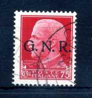 1944 GNR RSI 75c. USATO - 1944-45 République Sociale