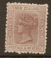 NZ 1882 6d Brown SSF P12x11.5 QV SG 191 MNG #AWD43 - 1855-1907 Colonie Britannique