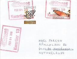 Netherlands Antilles 2019 Curacao Butterfly Dryas Iulia Amerindian Art Cover - Vlinders