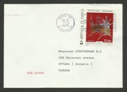 N° 1813 - Tapisserie Des Gobelins / Lettre Avion >>> CANADA / PARIS 07.02.1975 - Marcophilie (Lettres)
