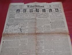 Journal Libération 16 Décembre 1944 Contre Attaque Allemande Poche De Colmar,Comités De Libération,Combats Athènes - Newspapers