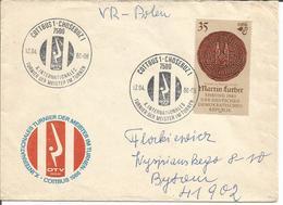 Timbre, Stamp, Briefmarke Postwertzeichen DDR. GERMANY. COTTBUS 1 CHOSEBUZ - Germania