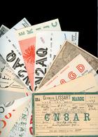MARRUECOS. 1940's / 60's. 15 Diff Radio Address Cards. - Morocco (1956-...)