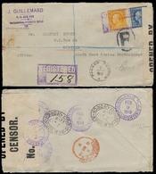 PUERTO RICO. 1919. Hormigueros (Ants House) - Karibib / South West Africa Protectorate. Registered Fkd Censored Env. Rar - Puerto Rico