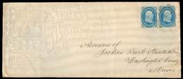 USA - Inland. C.1861. Maine Ilustr Govt Env, Fkd 1c X2 / Cds. - United States