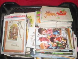 Lot De 900 Cartes Fantaisies, Semi Moderne, Moderne, Neuves, Circulées, Différents Formats, - Cartes Postales