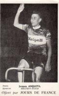 Sport : Cyclisme - Jacques Anquetil, équipe Helyett-Potin (photo Keystone) Offert Par Jours De France - Cycling