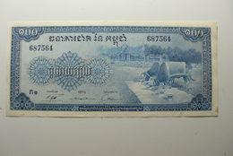 CAMBODIA - CAMBODGE - BILLETE DE 100 RIELS - Cambodia