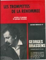 """Partition Georges Brassens """"Les Trompettes De La Renommée"""" - Partitions Musicales Anciennes"""