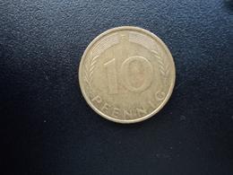 RÉPUBLIQUE FÉDÉRALE ALLEMANDE : 10 PFENNIG   1973 F    KM 108     SUP - 10 Pfennig