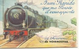 85  NOIRMOUTIER   CPA   SYSTEME   AUSSI RAPIDE  QUE MA PENSEE IL VOUS APPORTE  CE SOUVENR  DE NOIRMOUTIER - Noirmoutier