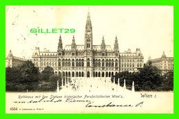 WIEN, AUSTRIA - RATHHAUS MIT DEN STATUEN HISTORISHER, PERSONLICHKEITEN WIEN'S - CÉ LEDERMANN Jr - TRAVEL IN 1905 - - Vienne