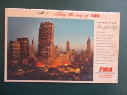 CPA ETATS UNIS NEW YORK  CITY SKYSCRAPERS AT NIGHT  PUB TWA TRANS WORLD AIRLINES - New York City