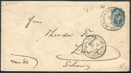 1895 Russia 10 Kon Stationery Cover - Zurich Switzerland - 1857-1916 Empire