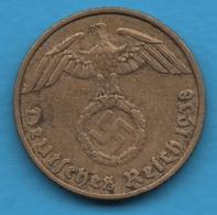 DEUTSCHES REICH 5 REICHSPFENNIG 1938 A KM# 91 (svastika) - [ 4] 1933-1945 : Troisième Reich