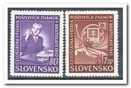 Slowakije 1942, Postfris MNH, Stamp Exhibition Pressburg ( 2 Scans ) - Slowakije