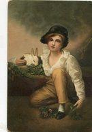 A BOY AND RABBIT / MUCHACHO Y CONEJO HENRY RAEBURN ART PAINTING POSTAL CIRCULATED 1907 - LILHU - Peintures & Tableaux