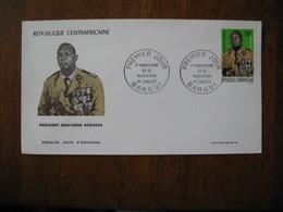 FDC Enveloppe République Centrafrique Bangui 1967 - Central African Republic