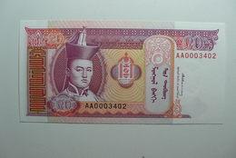 MONGOLIA - BILLETE DE 20 TUGRIKS - Mongolie