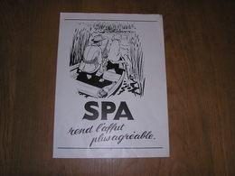 SPA Rend L'Affut Plus Agréable Publicité Originale 1958 Eau Spa Monopole Source Belgique Province Liège Revue Chasse - Pubblicitari
