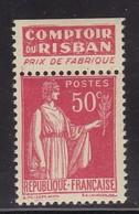 PUBLICITE: TYPE PAIX 50C ROUGE RISBAN-prix Fabrique ACCP 928 NEUF* - Advertising