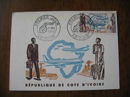 Carte Maximum - FDC  Côte D'Ivoire  Abidjan  Poste Aérienne   1962 - Ivory Coast (1960-...)