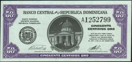 DOMINICAN REPUBLIC - 50 Centavos Nd.(1962) UNC P.89 - Dominicana