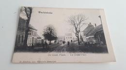 *'WACHTEBEKE  De Groote Plaats - La Grand'Place  Animée  Oblitérée En 1904 - Wachtebeke