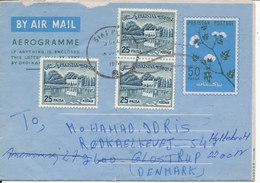 Pakistan Aerogramme Sent To Denmark 3-12-1974 - Pakistan
