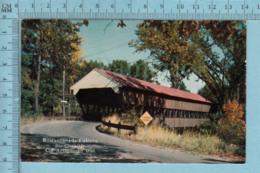 Pont Couvert-Covered Bridge In New Ingland , Restaurant La Caleche Ste-Clothilde+ Timbres 1965 - Carte Postale Postcard - Ponts