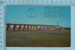 Ile D'Orlean  Quebec -Le Pont - A Servit En 1972+ Timbre CND -post Card Carte Postale - Quebec