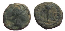[H] +++ AE14 -- Pseudo-autonomous --  PHILIPPOPOLIS In Thracia - Apollon / Tripod -- RARE +++ - Römische Münzen