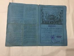 FOGLIO DI CONGEDO  GRUPPO BATTAGLIONI POLIZIA MILITARE MORAZZONE VARESE 1945 - Diplomi E Pagelle